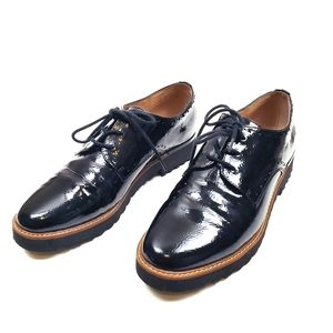 Franco Sarto Oxford Black Shoes, flat